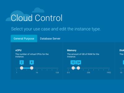 Cloud Performance Web App Concept visual design ux design ui design product design