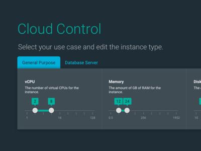 Cloud Performance Web App Concept v2 visual design ux design ui design product design