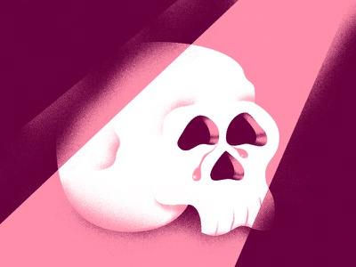 Crying Skull andrea rubele illustrator illustration skull crying cry