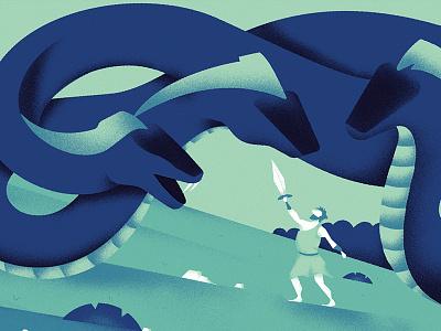 Idra design graphicdesign illustrator illustration dragon andrearubele hydra hercules idra
