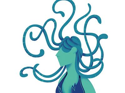 Medusa design andrearubele instaart art graphicdesign illustrator illustration gorgon medusa