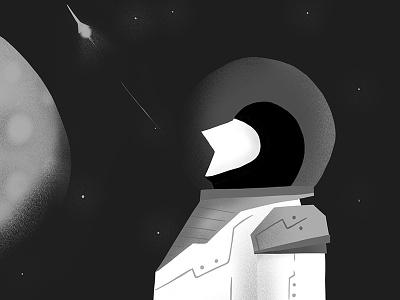Spaceman illustrator illustration creative andrearubele space art design graphicdesign instaart artist art shuttle spaceman space
