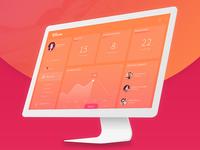 Fliminc Free PSD - Admin Dashboard Mockup