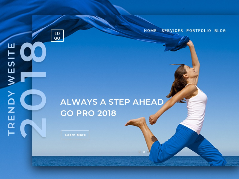 Free Web Design Template - Step Ahead photoshop sketch ui-kit freeuikit freebie free userinterface uidesign ui