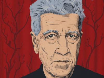 David Lynch horror twin peaks procreate drawing portrait illustration