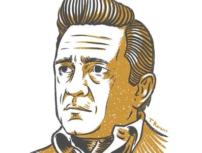 Jonny Cash procreate portrait drawing illustration