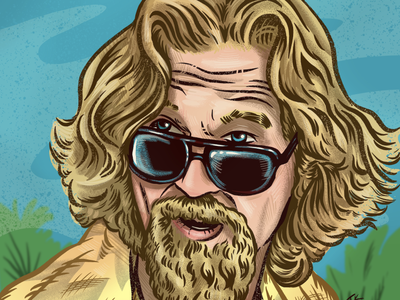 THE DUDE the big lebowski procreate design drawing portrait illustration