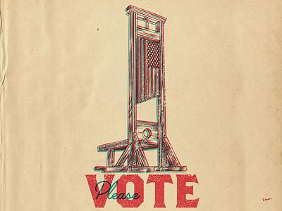 Please Vote horror xray procreate design drawing illustration vote