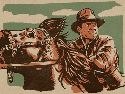 Indiana Jones! procreate indiana jones drawing illustration
