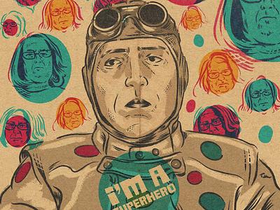Polka Dot Man! polkadot design procreate portrait drawing illustration