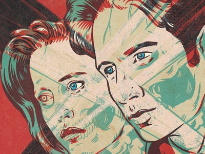 I WANT TO BELIEVE sci-fi television x-files design monsters procreate portrait drawing illustration
