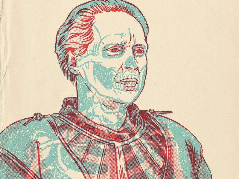 Brienne Of Tarth game of thrones design gig poster xray portrait drawing illustration