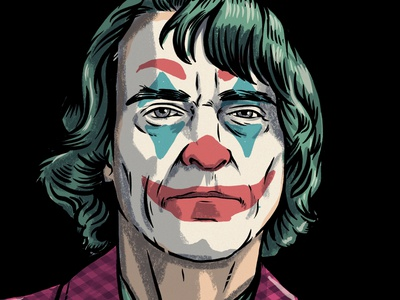 Can you call me Joker joker clown comics design portrait monsters drawing illustration
