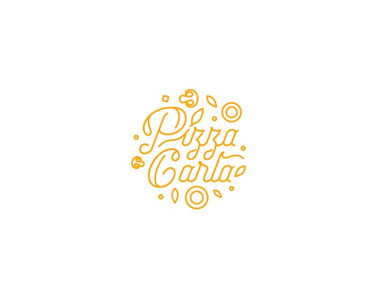 Pizza Carla symbol simple music modern minimal logotype logo graphic design clean branding brand