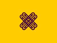Delicate X identity vector flow icon illustration graphic geometry ui simple symbol design modern logotype logo branding
