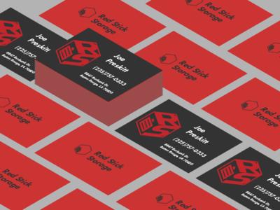 Red Stick Storage cards storage red branding cards business