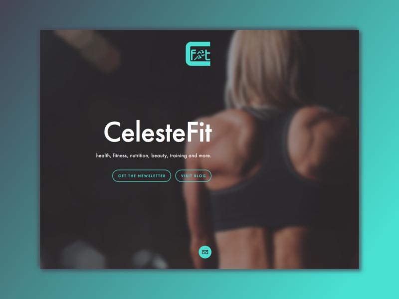 CelesteFit Landing Page website brand fitness