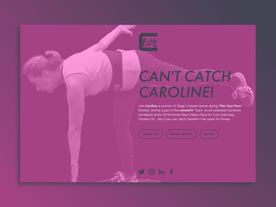Can't Catch Caroline! modern simple landing page