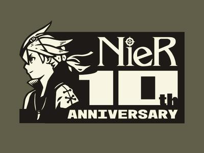 Graphic Design 25 - Nier 10th Anniversary fanart vector illustration logo videogame yoko taro gestalt replicant nier