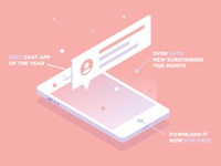 Graphic Design 04 - Isometric Chat App