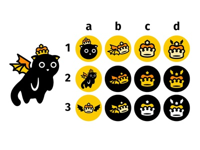 New Personal Logo For 2019 brand icon black orange yellow illustrator cute bat crown cat feedback logo artwork