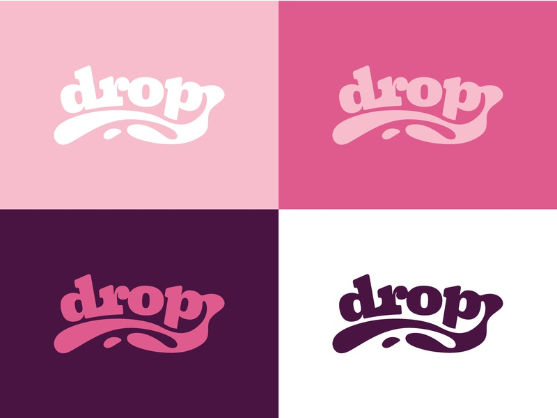 Graphic Design 22 - Drop Logo branding funny illustrator liquid purple pink logos drop