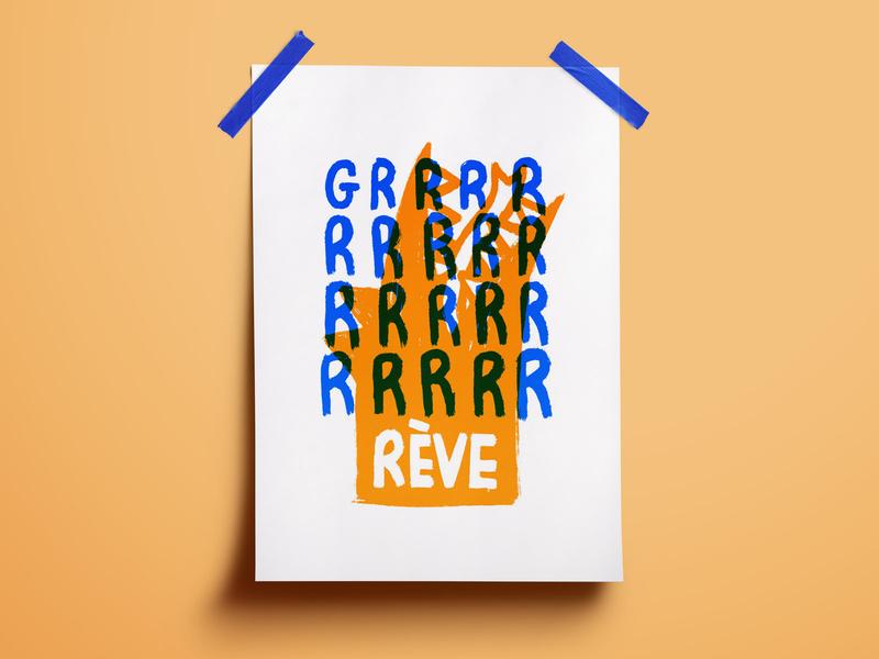 Graphic Design 23 - Grève Générale flat illustration illustration serigraphy blue orange retraite pension french france strike mai 68 poster