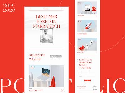 Personal Portfolio ux design art art direction designer marrakech layout web lettering portfolio landing page website web design creative typography interface minimal clean ui design ui ux