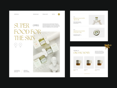 Apiceuticals E-commerce Website uiux 3d hero image home page bees animation product ecommerce web honey landing page layout website web design creative typography interface minimal ui ux