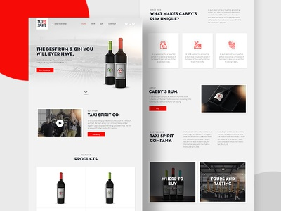 Micro-Distillery — Home page ux ui design landing page web design hero responsive wine product page minimal drink distillery clean