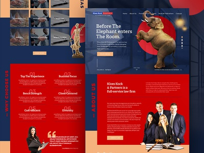 Website Design for Law Firm law office design ux ui website web inteface home law lawfirm