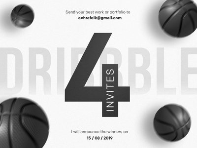 4 Dribbble Invites Giveaway minimal clean web design ui design giveaway dribbble invites dribbble invite invite giveaway invite