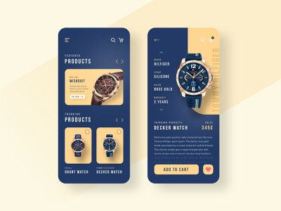 Watch shop app app design interface store gold watch minimalist shopping app shopping shop accessories add to cart ecommerce app ecommerce fashion gradients ux minimal products clean ui design