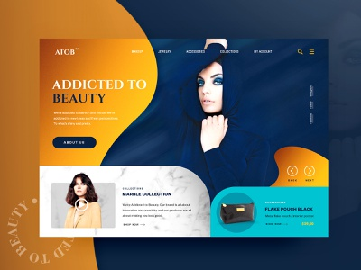 ADDICTED TO BEAUTY - Website store shop visual design ecommerce design landing creative ui design clean layout typography website fashion design dark interface gradients web design minimal ui ux