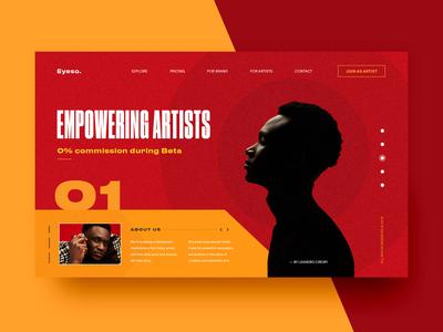 Artists Platform - Website