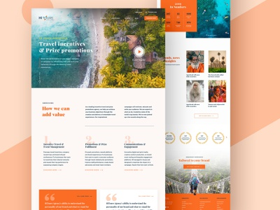 India DMC Travel Agency vacation home page india travel agency traveling layout landing page landing web creative website typography design web design interface minimal clean ui ux ui design