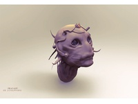 3D Alien character sculpting in ZBrush