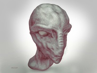 3D Alien character Head sculpting in ZBrush