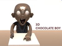 3D chocolate boy