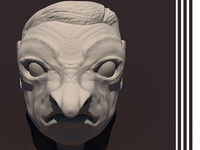 3d angry cartoon character