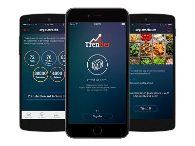 Trender - Social Networking App marketing app business app social app ios app development android app development mobile app development social networking app