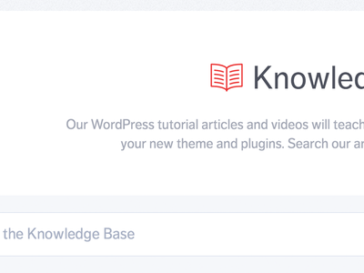 Knowledge Base book serif clean gray red type