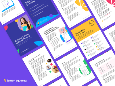 A Creator's Guide to Digital Products chapter color blue purple digital good digital product money guide creator serif magazine book revenue clean ebook
