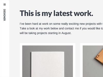 Designer white gray sidebar portfolio