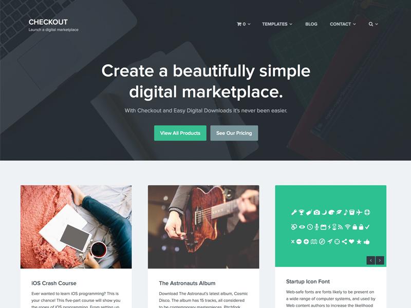 Checkout wordpress ecommerce digital goods