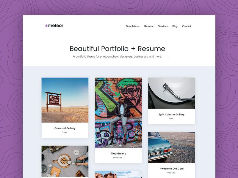 Meteor - A beautiful portfolio + resume WordPress theme by Mike ...