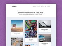 Meteor - A beautiful portfolio + resume WordPress theme