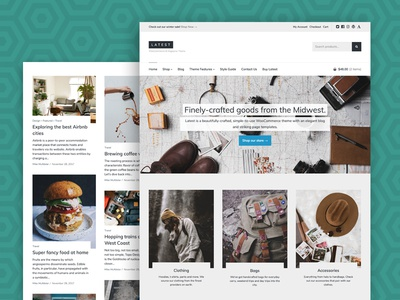 Latest - A Beautiful eCommerce and Magazine Theme columns header hero business minimal blog magazine woocommerce ecommerce