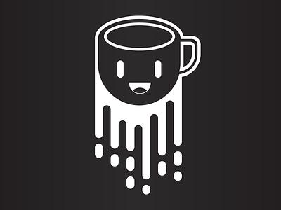 Coffee monotone character vector coffee illustraion illustrator