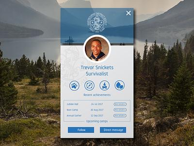 #006 User Profile scouts userprofile dailyui 006 dailyuichallenge